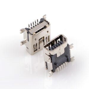 Mini USB Female Connectors